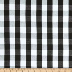 Girl Charlee Cotton Jersey Knit Buffalo Plaid Black White Fabric