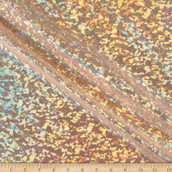 Shattered Glass Dancewear Spandex Knit Nude/Gold