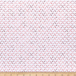 Maywood Studio Prose Delicate Crosshatch Ultra White/Red