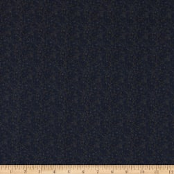 Italian Designer Cotton Broadcloth Micro Paisley Navy/Grey Fabric