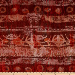 Italian Designer Jacquard Aurora Red/Burnt Orange/Pink