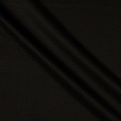 French Designer Brocade Black Fabric