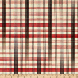 Chloe Italian Designer Cotton Lawn Red/Cream/Black Fabric
