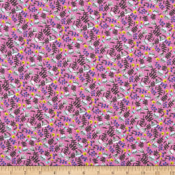 EXCLUSIVE Kaufman Hello Lucky! Lawns Floral Hot Pink