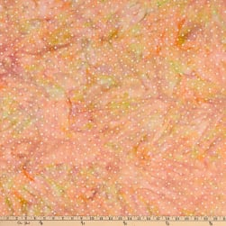 Batik By Mirah Cloudberry Dots Peachy Bud