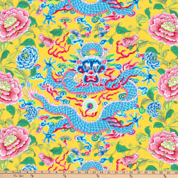 FreeSpirit Silk Road Dragon & Peony Yellow