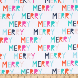 Paintbrush Studios Handmade Holiday Merry White