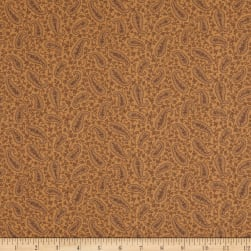 Mayfair 108'' Wide Back Paisley Camel Fabric