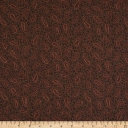 Mayfair 108'' Wide Back Paisley Brown Fabric