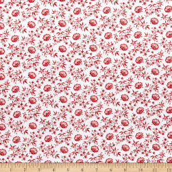 Windham Scarlett Floral Lattice Linen Fabric