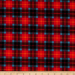 Whistler Studios Dad Plaids Flannel Christopher Red Fabric
