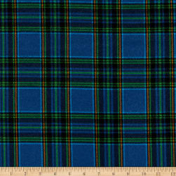 Whistler Studios Dad Plaids Flannel Patrick Blue Fabric