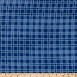 Whistler Studios Dad Plaids Flannel Stanley Blue Fabric
