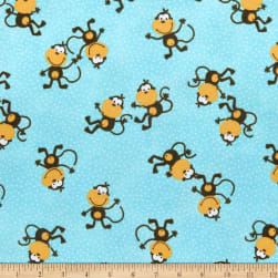 Comfy (R) Flannel Print Monkey Toss On Microdot