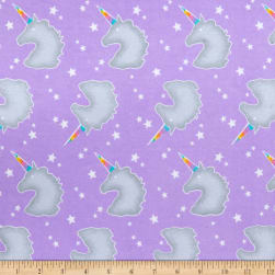 Comfy (R) Flannel Print Unicorn Head Silhouettes &