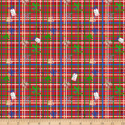 QT Fabrics Sweater Weather Christmas Wrapping Plaid Red