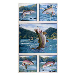 """Tight Lines Trout 24"""" Panel Eggshell"""