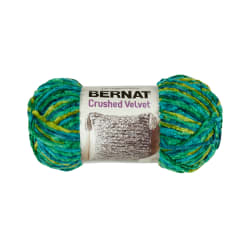 Bernat Crushed Velvet Yarn Tropical Greens