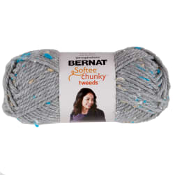 Bernat Softee Chunky Tweeds Yarn (80g/2.8oz), Soft Gray