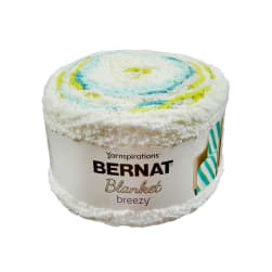 Bernat Blanket Breezy Yarn Citron Splash