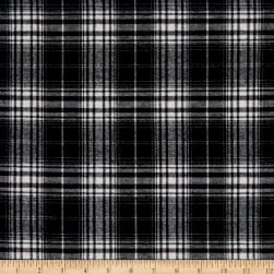 Plaid Flannel PLD-292 White/Black