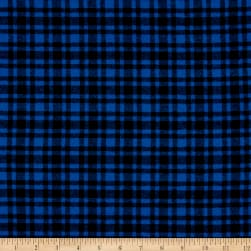 Plaid Flannel PLD-515 Royal/Black