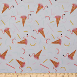E.Z. Exclusive Minky Flamingo Ice Cream Cone White