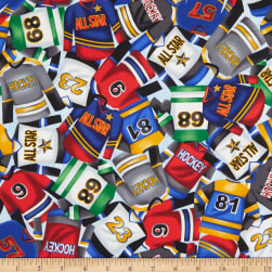 Love of the Game Hockey Jerseys Blue Fabric