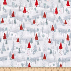 Henry Glass Flannel Winter Frost Small Forest Scene