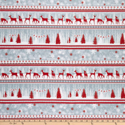 Henry Glass Flannel Winter Frost Deer & Forest