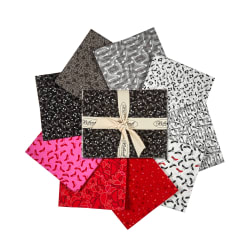 StofDenmark Best Bits Fat Quarters 9pcs Black/Red