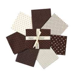 StofDenmark Nellies Shirtings Assorted Fat Quarters 7pcs Brown