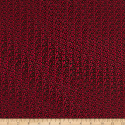 Italian Designer Cotton Broadcloth Microgrid Red/Black