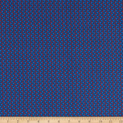 Italian Designer Cotton Broadcloth Micro Dot Red/Blue/Navy Fabric