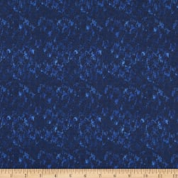 Italian Designer Cotton Broadcloth Blue/Navy