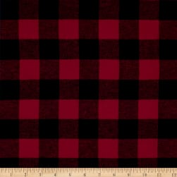 Yarn Dyed Flannel Buffalo Check Red/Black
