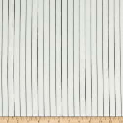Fabtrends Washer Ghost Texture Crepe Vertical Stripe Ivory/Black