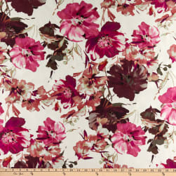 Fabtrends Digital Mikado Bloomed Rose Peony Garden/Ivory Fabric