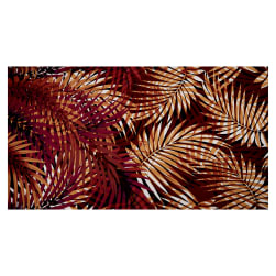 Fabtrends ITY Knit Tropical Palm Leaves Rust Fabric
