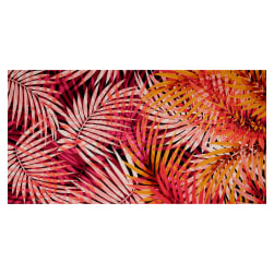 Fabtrends ITY Stretch Knit Tropical Palm Leaves Coral/Gold