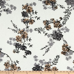 Fabtrends Vienna Knit Floral on Branches Ivory/Neutral