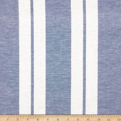 Linen Stripe Sky Fabric