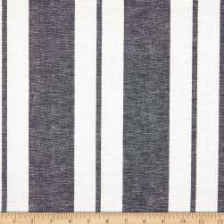 Linen Stripe Navy Fabric
