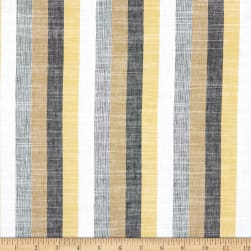 Linen Stripe Olive/Yellow Fabric