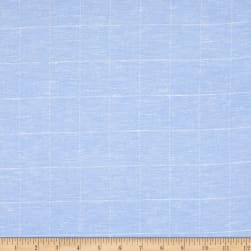Linen Plaid Sky Fabric