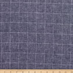 Linen Plaid Indigo Fabric