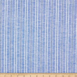 Stripe Linen Blue Fabric
