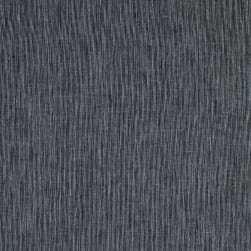 Cotton Linen Stripe Navy Fabric