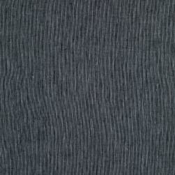 Cotton Linen Stripe Black