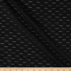 Cotton Dobby Skip Stripe Leno Black